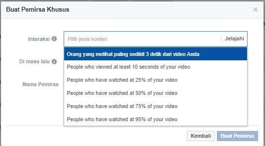 audience untuk retargeting di facebook ads